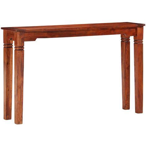 Mesa consola de madera maciza de acacia 120x30x76 cm
