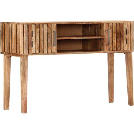 Mesa consola de madera maciza de acacia 120x35x76 cm