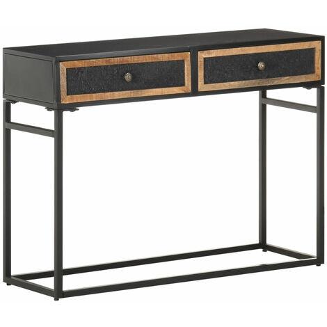 Mesa consola de madera maciza de mango 100x35x75 cm