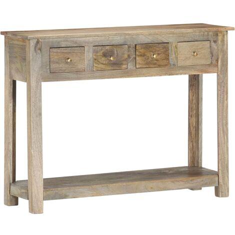 Mesa consola de madera maciza de mango 110x30x76 cm