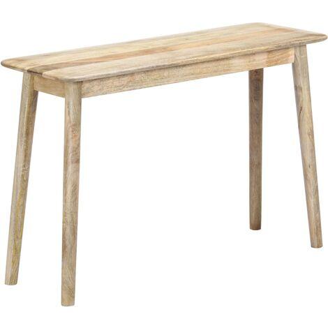 Mesa consola de madera maciza de mango 115x40x76 cm
