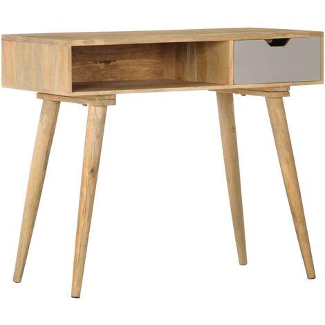 Mesa consola de madera maciza de mango 89x44x76 cm