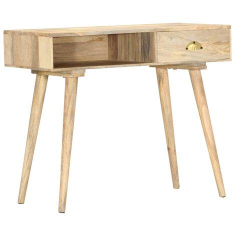 Mesa consola de madera maciza de mango 90x45x75 cm