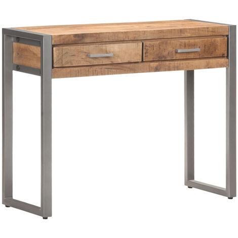 Mesa consola de madera maciza de mango 95x35x75 cm