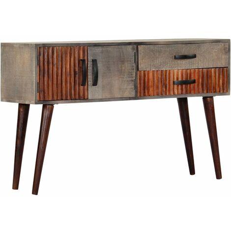 Mesa consola de madera maciza de mango gris 120x35x75 cm