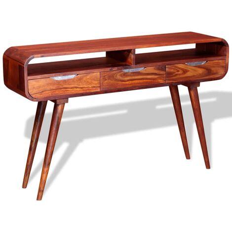 Mesa consola de madera maciza de sheesham 120x30x75 cm