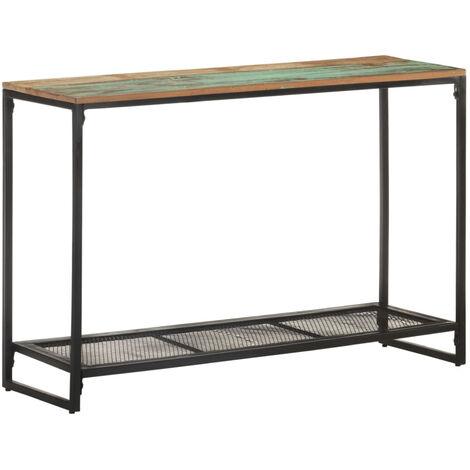 Mesa consola de madera maciza reciclada 110x35x75 cm
