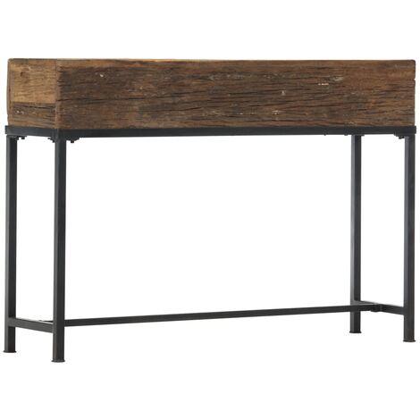 Mesa consola de madera maciza reciclada 120x30x80 cm