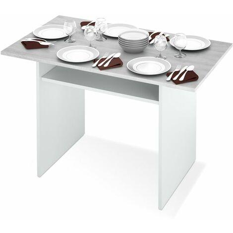 Mesa consola extensible Tavolo - Blanco Artik - Gris Cemento