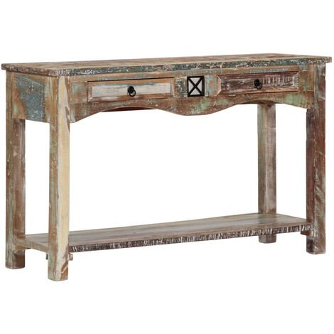 "main image of ""Mesa consola madera maciza reciclada 120x40x75 cm"""