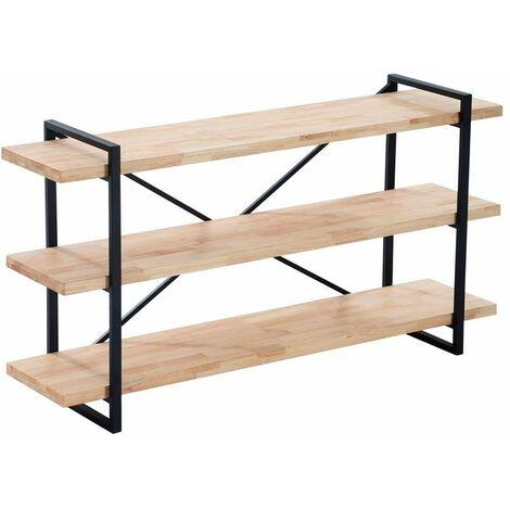 Mesa Consola Plank - Roble salvaje-negro