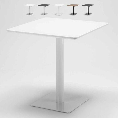 Mesa cuadrada 70x70 para bares restaurantes hoteles pedestal central Horeca