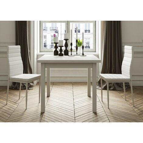 Mesa cuadrada multiusos comedor/cocina. Dimensiones 90 cm x 90 cm extensible libro a 180 cm x 90 cm