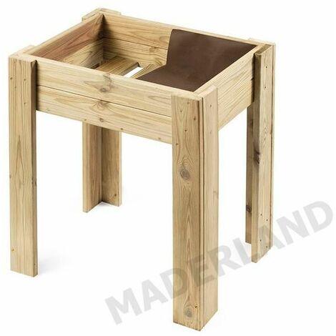 Mesa Cultivo Urbano de madera 16 mm ECO 80 - 50L