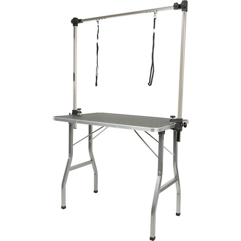 """main image of """"Mesa de aseo con brazo,mesa de peluquería canina,Mesa de aseo plegable para perros Mesa de aseo ajustable en altura 90X76X60cm"""""""