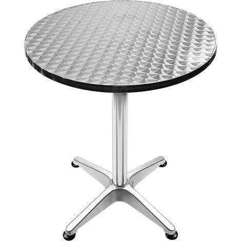 Mesa de bar bistró de aluminio altura ajustable 70 - 110 cm