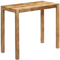Mesa de bar de madera maciza de mango 120x60x108 cm