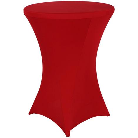 Mesa de café alta y plegable 80x80x110cm para eventos con forro elástico