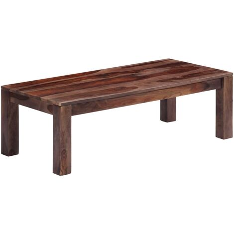 Mesa de centro 110x50x35 cm madera maciza de sheesham gris