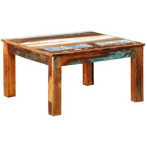 Mesa de centro cuadrada de madera reciclada