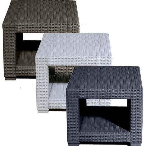 Mesa de Centro Cuadrada de Ratán - Muebles de Jardín Aire Libre