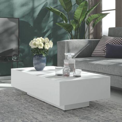 """main image of """"Mesa de centro de aglomerado blanco 115x60x31 cm"""""""