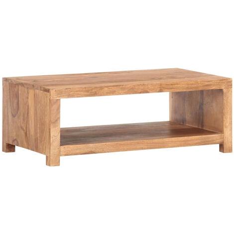 Mesa de centro de madera maciza de sheesham 80x45x30 cm