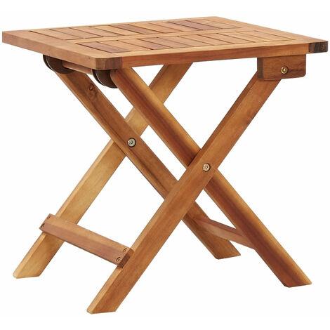 Mesa de centro plegable de jardin madera de acacia 40x40x40 cm