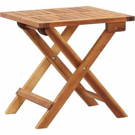 Mesa de centro plegable de jardín madera de acacia 40x40x40 cm - Marrón