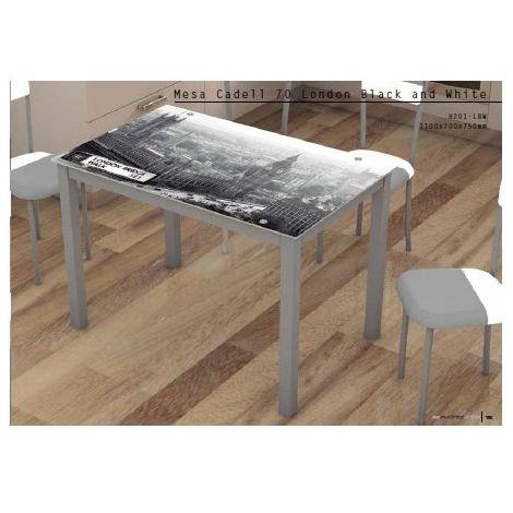 Mesa de cocina Cadell 70 cristal impreso varios modelos ...