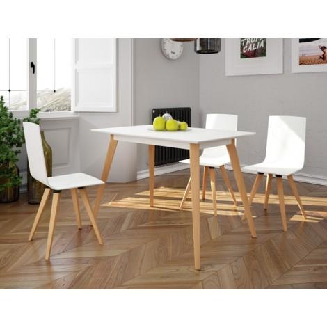 Mesa de cocina madera Extensible Caeli blanca