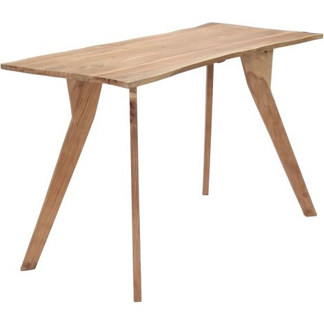 Mesa de comedor 120x58x76 cm madera maciza de acacia