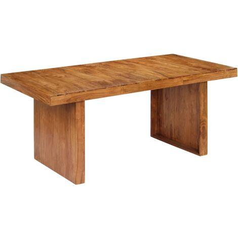 Mesa de comedor 180x90x75 cm madera maciza de acacia