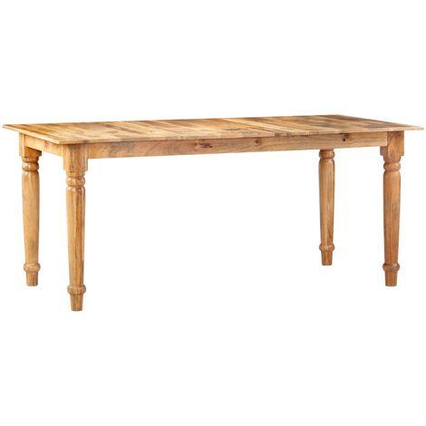 Mesa de comedor 180x90x77 cm madera maciza de mango