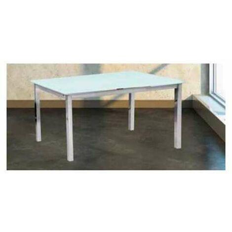 Mesa de comedor bianca extensible en acabado blanco 76 cm(alto)120-180 cm(ancho)80 cm(largo) Color Blanco