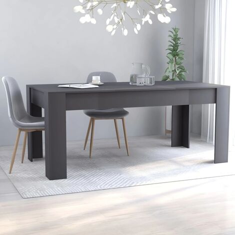 Mesa de comedor de aglomerado gris 180x90x76 cm