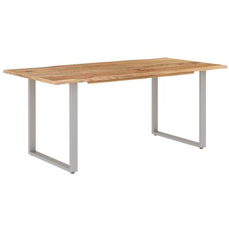 Mesa de comedor de madera maciza de acacia 180x90x76 cm