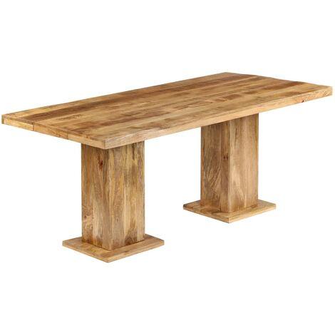Mesa de comedor de madera maciza de mango 178x90x77 cm