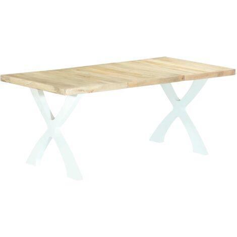 Mesa de comedor de madera maciza de mango 180x90x76 cm