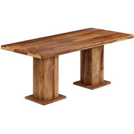 Mesa de comedor de madera maciza de sheesham 175x90x77 cm