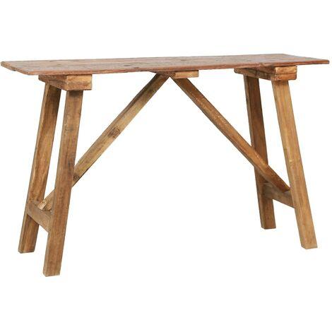 Mesa de comedor de madera maciza reciclada 120x55x78 cm