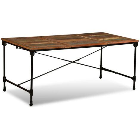 Mesa de comedor de madera maciza reciclada 180 cm