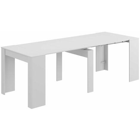 Mesa de comedor extensible grande hasta 235 cm reducible a 50 cm (5 posiciones)