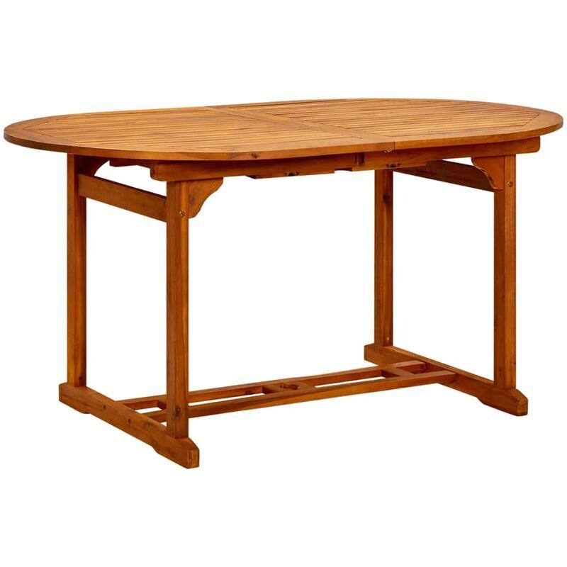 Mesa de Comedor Exterior Extensible Madera de Acacia -