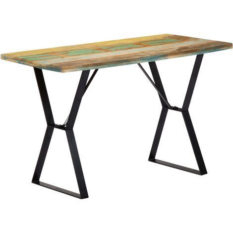 Mesa de comedor madera maciza reciclada 120x60x76 cm