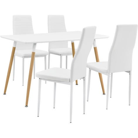 mesa de comedor / mesa de cocina (120x70cm) con 4 sillas tapizadas ...