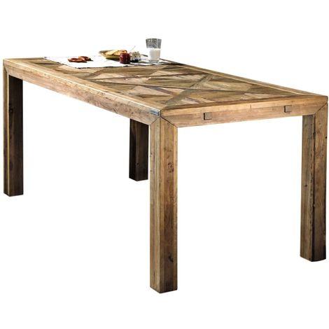 Mesa de comedor Olmo 160 en madera vieja cm 160x85x76 Guarnieri Olmo 160