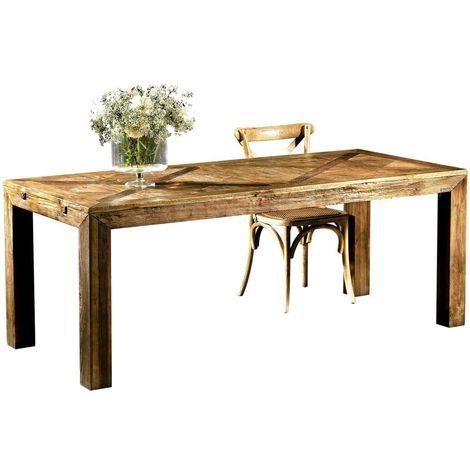 Mesa de comedor Olmo 200 en madera vieja Guarnieri Olmo 200