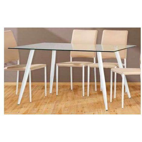 Mesa de comedor patas blancas o negras