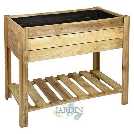 Mesa de cultivo madera rectangular 100 x 50 x 75 cm